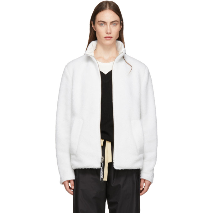 Stutterheim Reversible White Varby Zip Jacket in 1805 7047 O