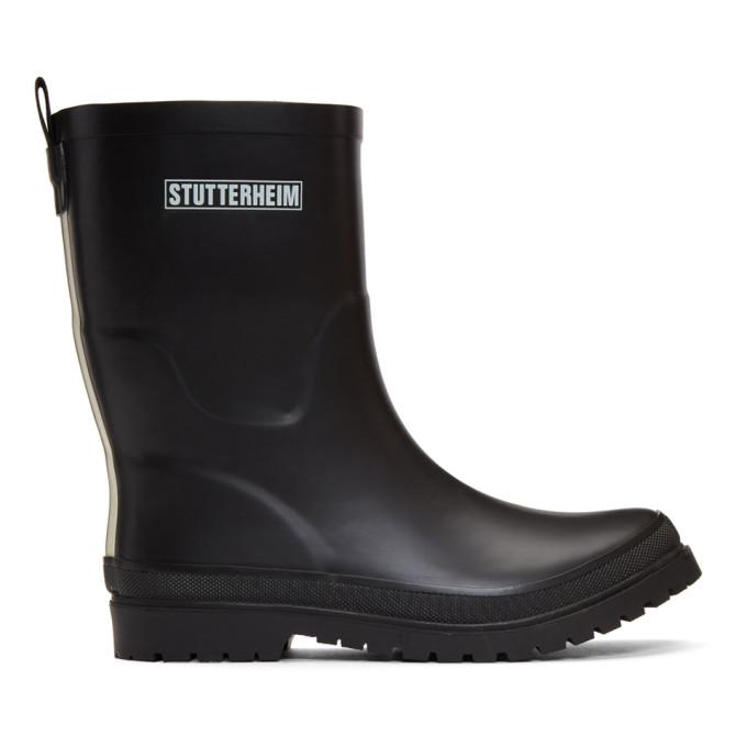 Stutterheim Black Hornavan Rain Boots