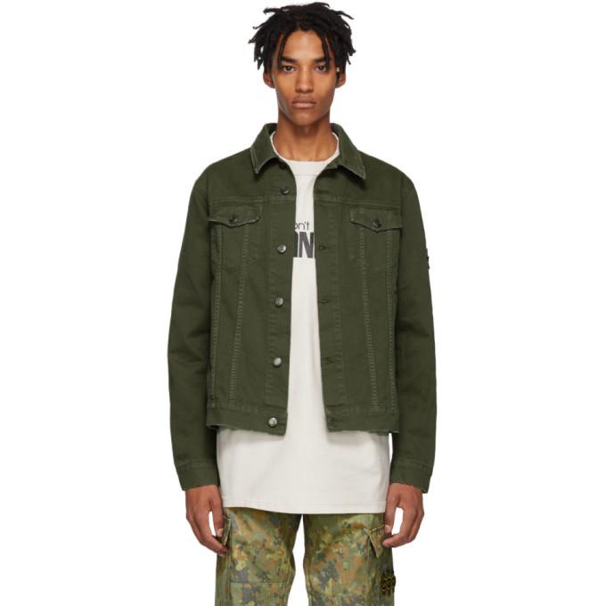 RESORT CORPS Resort Corps Green Militia Denim Jacket in Olive