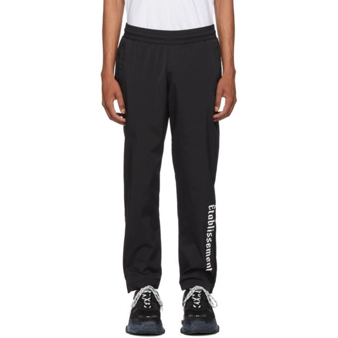 RESORT CORPS Resort Corps Black Nylon Lounge Pants