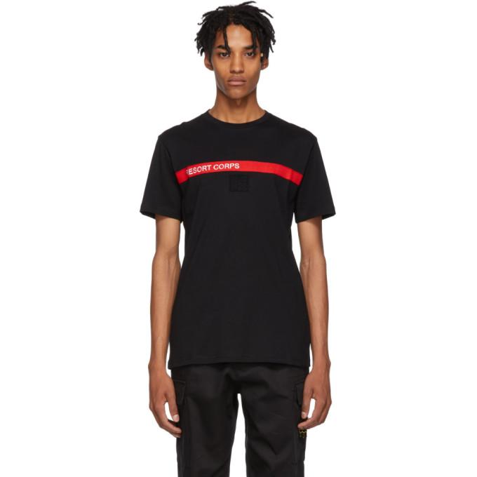 RESORT CORPS Resort Corps Black Patrol T-Shirt in Black/Red