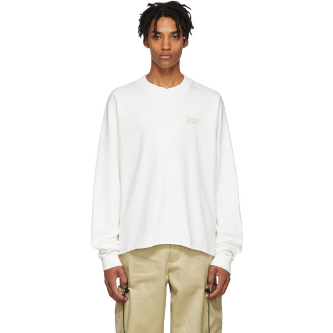 RESORT CORPS Resort Corps White Prophet Cropped Long Sleeve T-Shirt