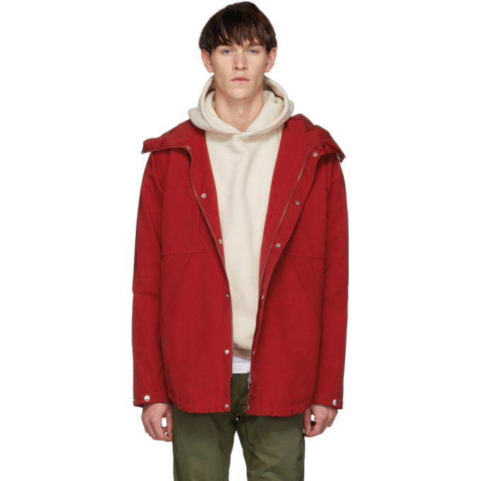 NONNATIVE Nonnative Red Hiker Hooded Jacket in 020 Red