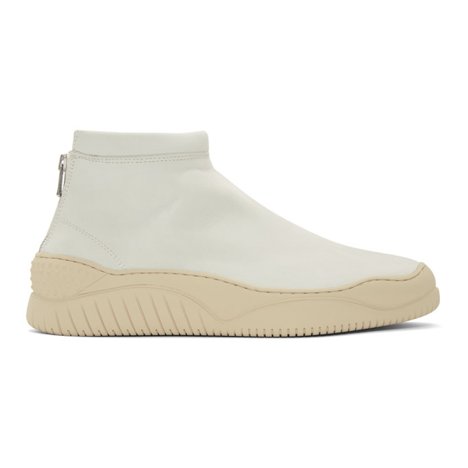 nonnative Baskets mi-montantes blanches Clerk Trainer