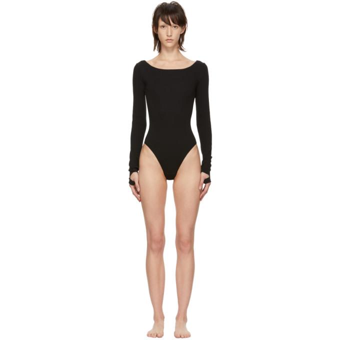 MARIEYAT Marieyat Black Cut-Out Bodysuit