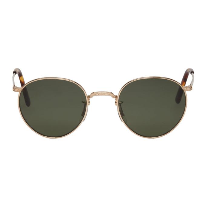 Image of Eyevan 7285 Gold 'Model E0020' Sunglasses