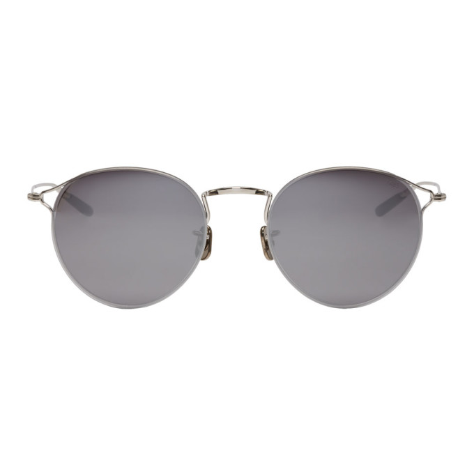 Image of Eyevan 7285 Silver 'Model 747' Sunglasses