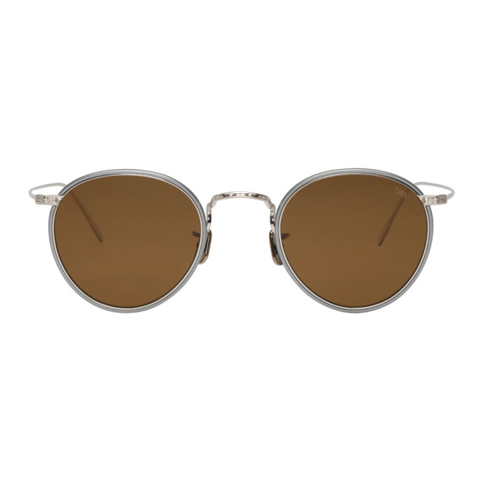 Image of Eyevan 7285 Silver 'Model 717W' Sunglasses