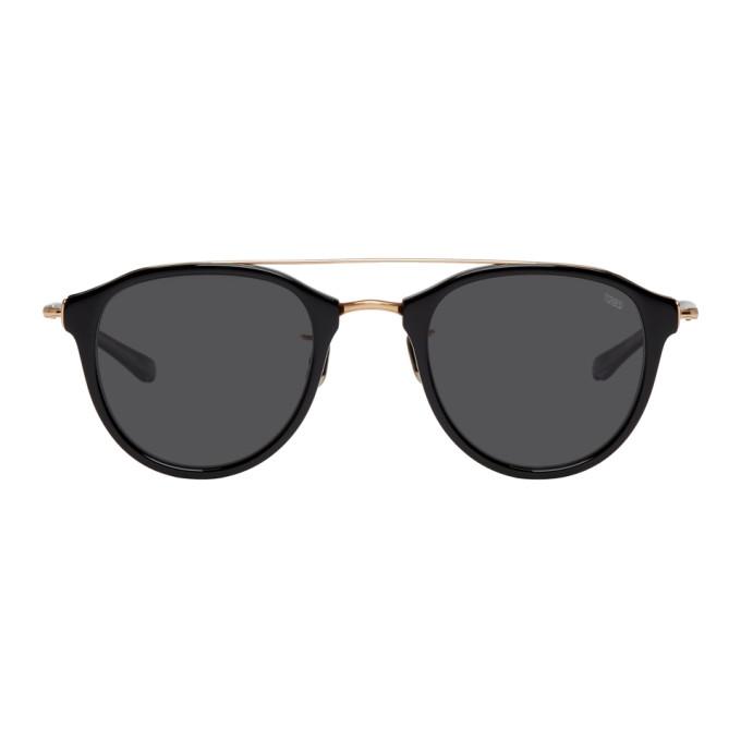 Image of Eyevan 7285 Black & Gold 'Model 767' Sunglasses