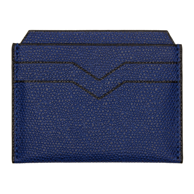Image of Valextra Blue 4CC Card Holder