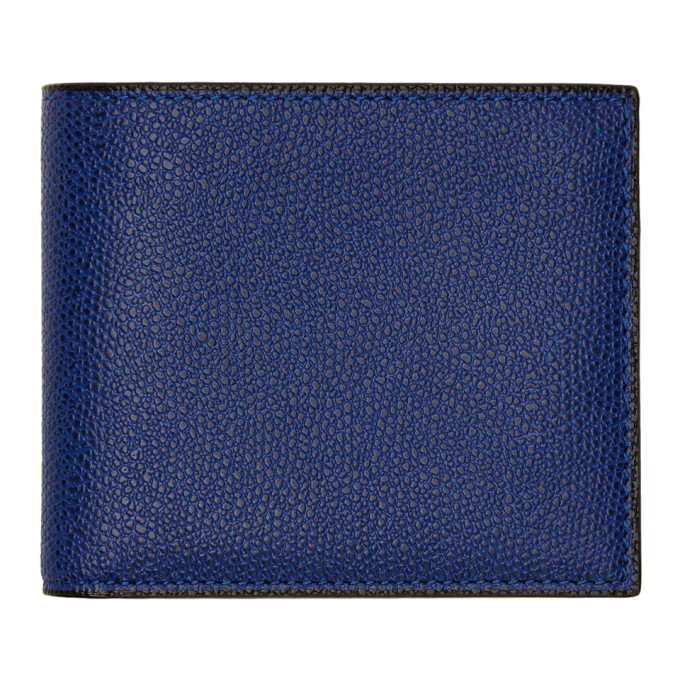 Image of Valextra Blue 6CC Wallet