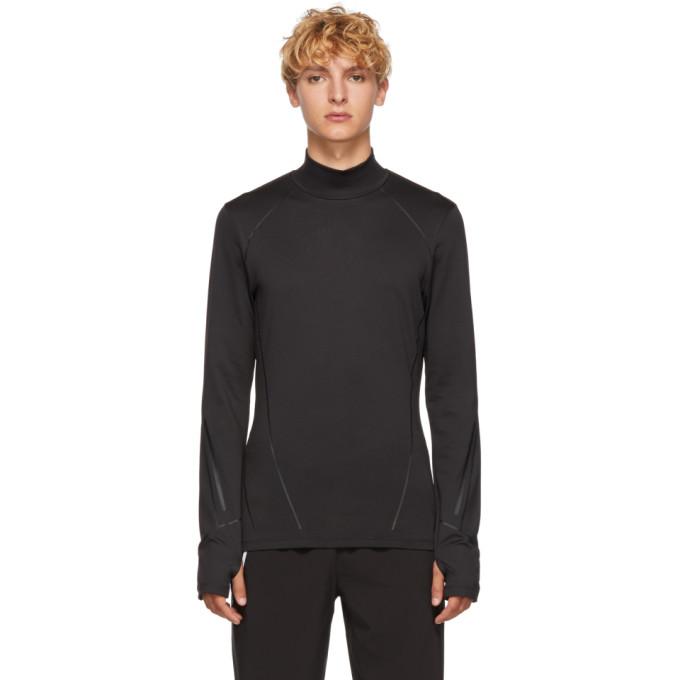 BLACKBARRETT by Neil Barrett T-shirt a manches longues noir Compression