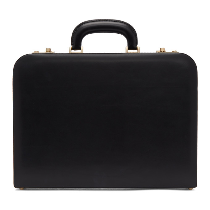 Brioni Black Leather Briefcase