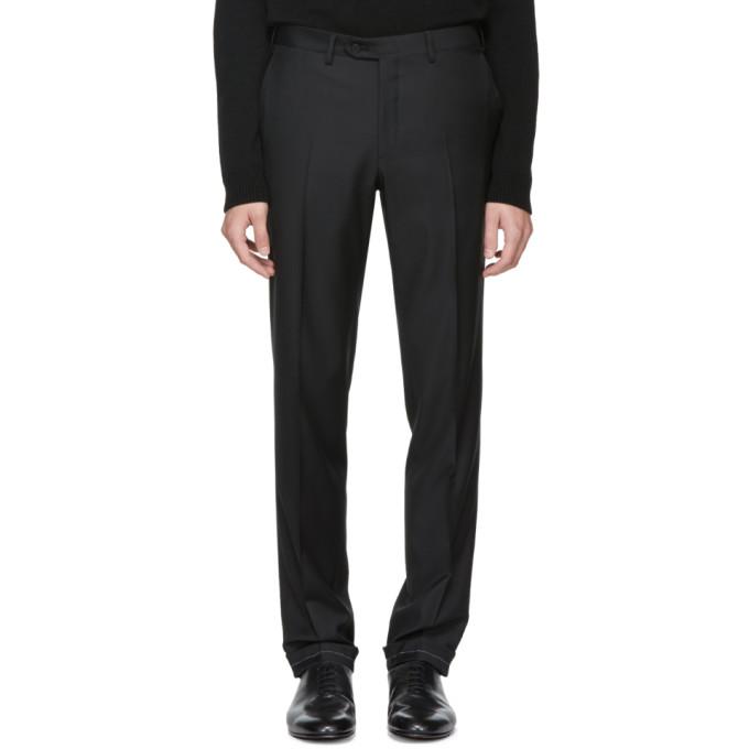 Image of Brioni Black Slim Trousers