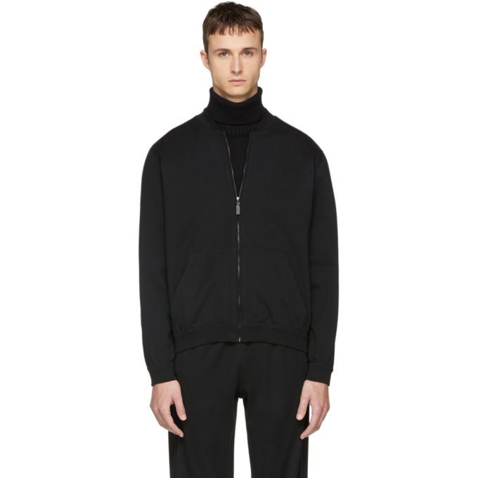 Image of Brioni Black Track Jacket