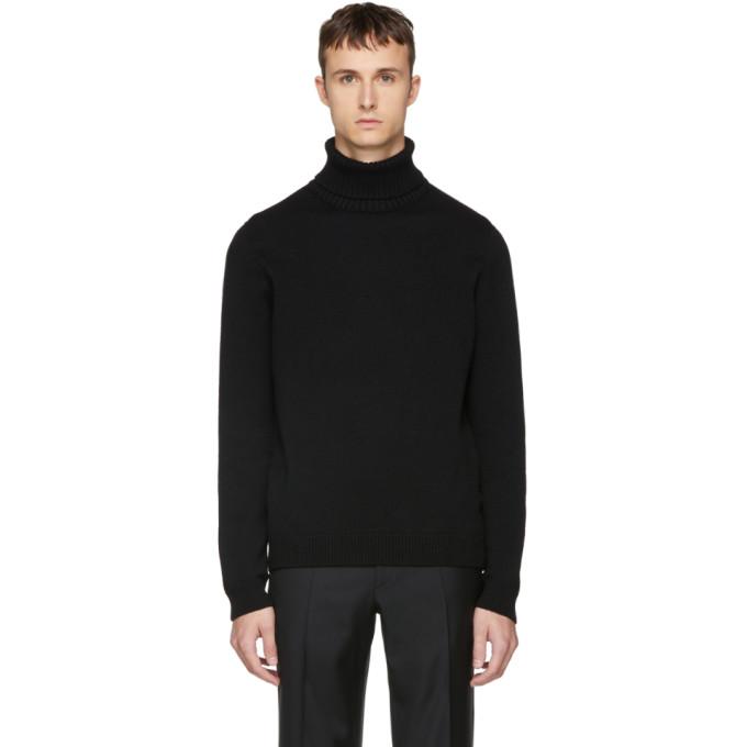 Image of Brioni Black Cashmere Turtleneck