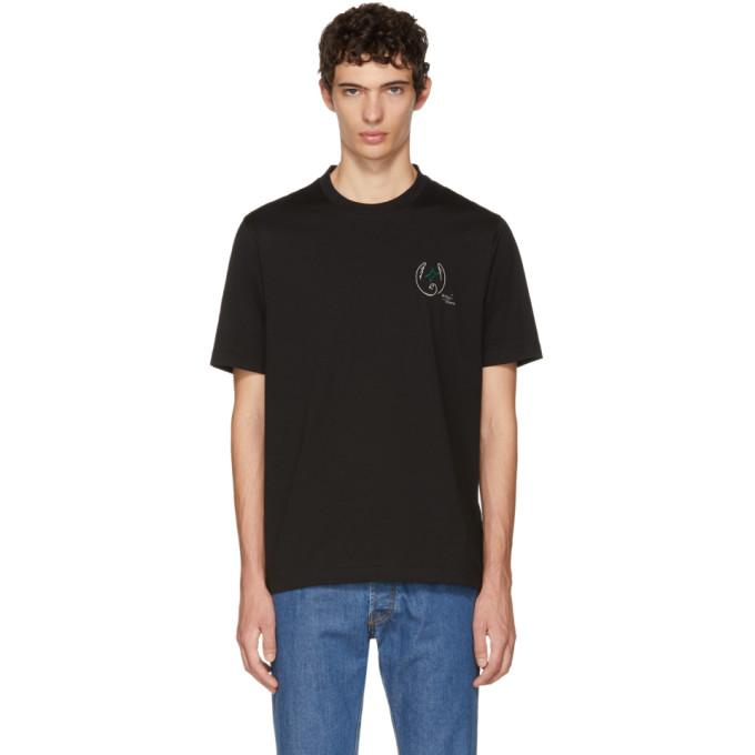 Image of Brioni Black Logo Crest T-Shirt