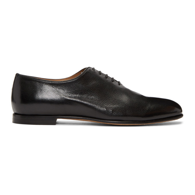 Image of Brioni Black Leather Oxfords