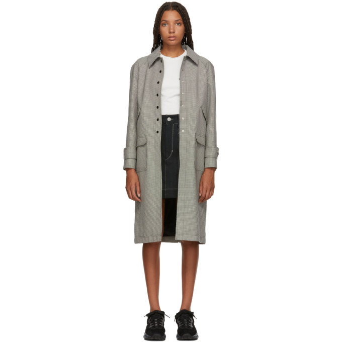 Image of Alexachung Black & White Micro Houndstooth Coat