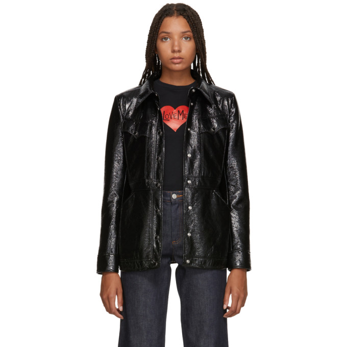 Image of Alexachung Black Shiny Patch Pocket Jacket