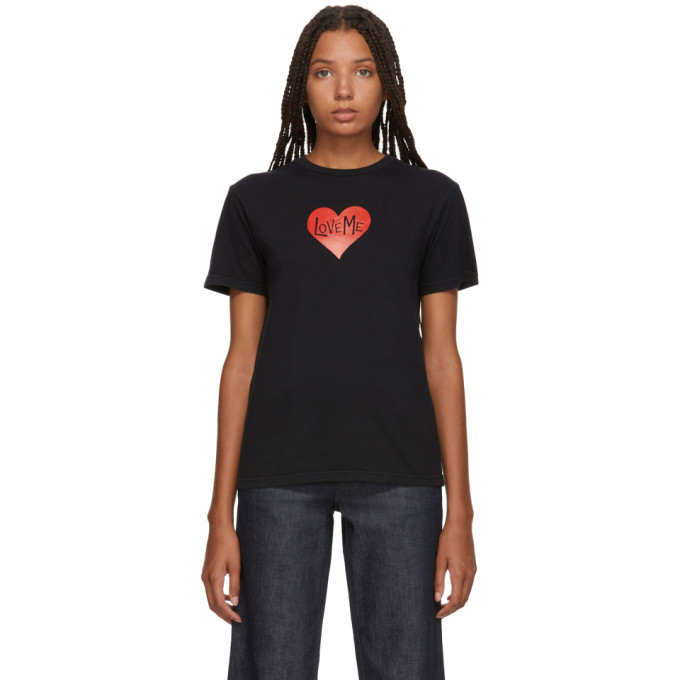 Image of Alexachung Black 'Love Me' T-Shirt