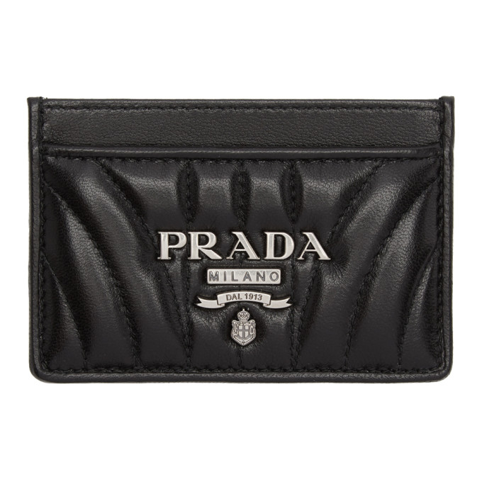 Metallic Logo Card Case in Black