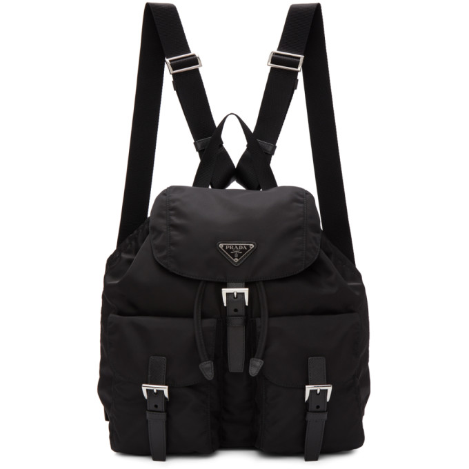 Prada Black Nylon Regular Backpack
