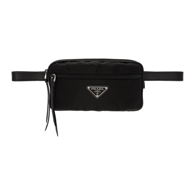 Prada Black Rectangular Belt Pouch