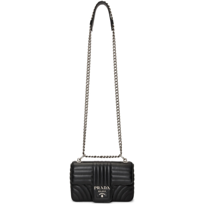 Prada Black Quilted Diagram Bag