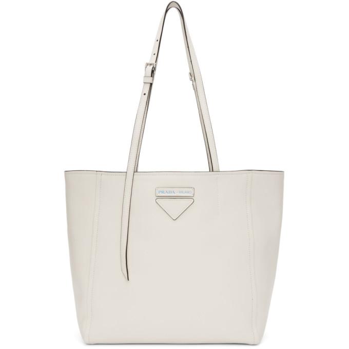 Prada White Small Concept Tote