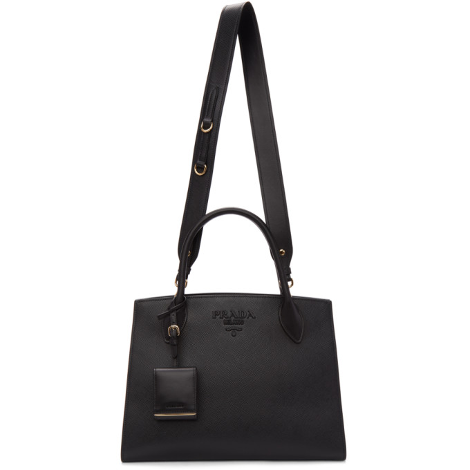 Prada Black Medium Saffiano Tote