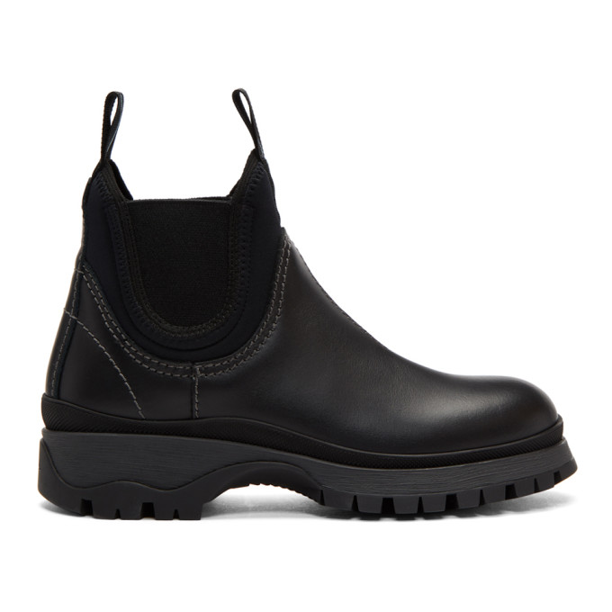 Prada Black Chelsea Boots