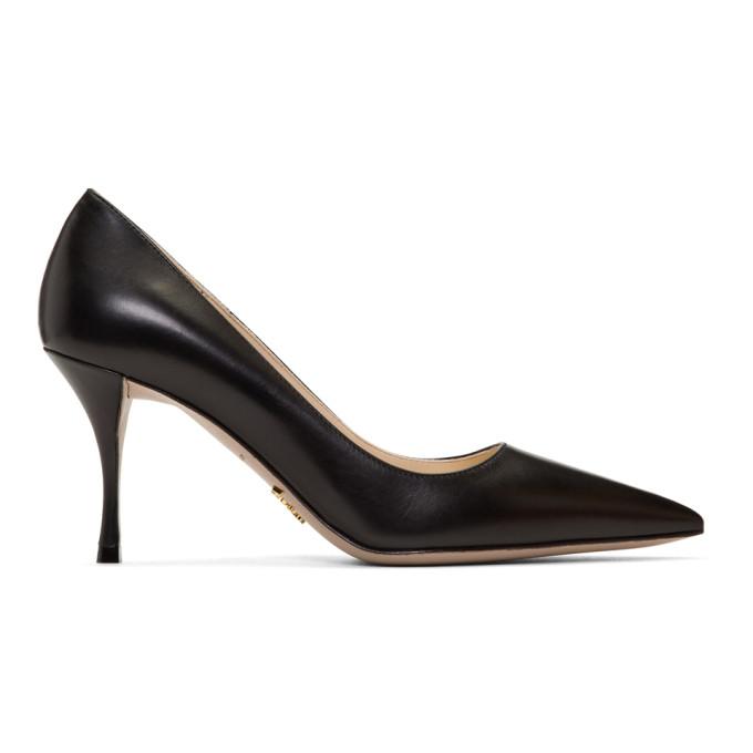 Prada Black Lux Heels