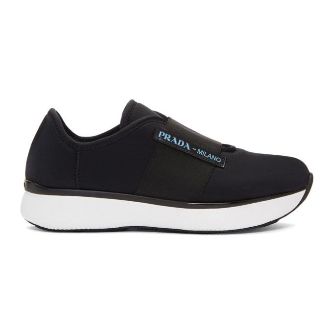 Prada Black Neoprene Sneakers