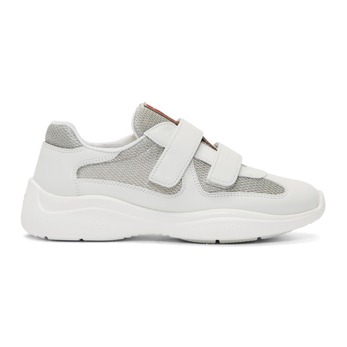 Prada White Chunky Sole Sneakers