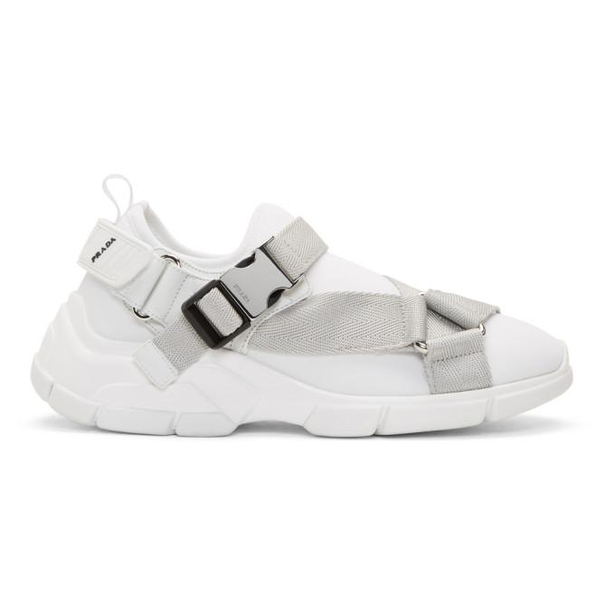 Prada White Chunky Straps Sneakers