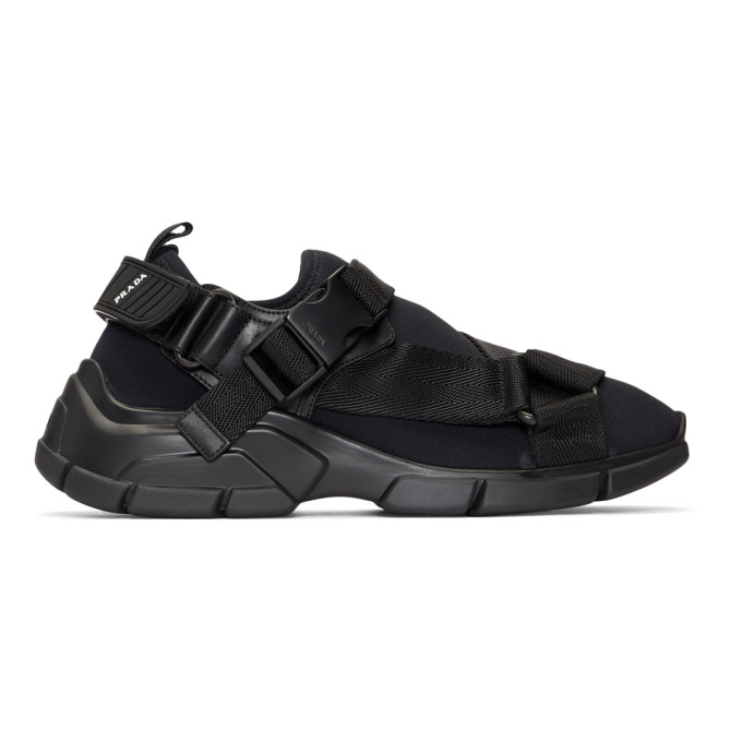Prada Black Chunky Sole Sneakers