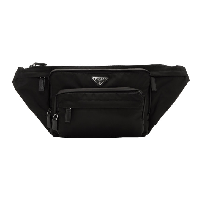 Prada Black Small Nylon Logo Fanny Pack