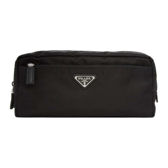 Prada Black Nylon Double Pouch