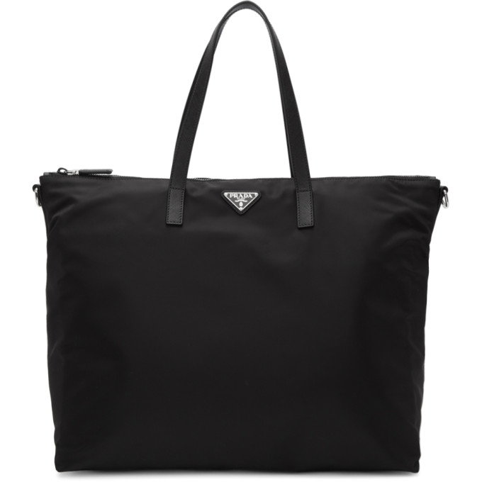Prada Black Nylon Small Travel Tote