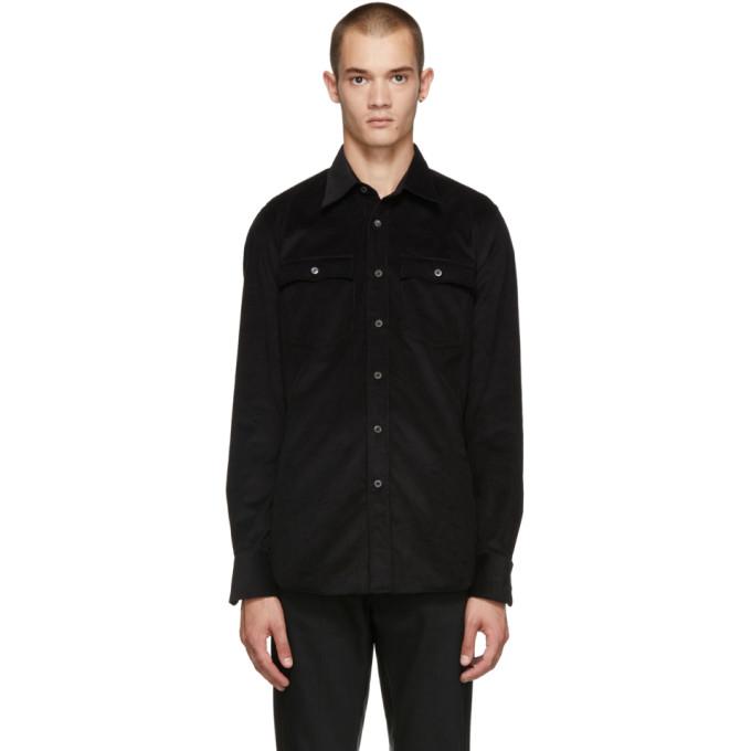 Prada ブラック 2 ポケット シャツ