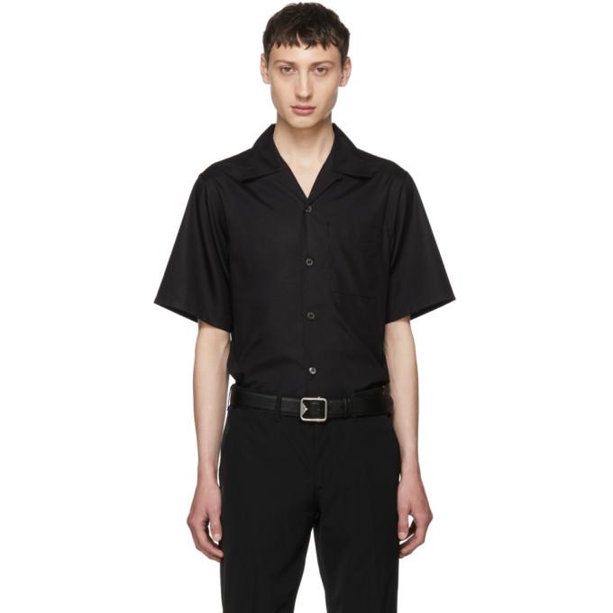 Prada ブラック ショート スリーブ ポプリン シャツ