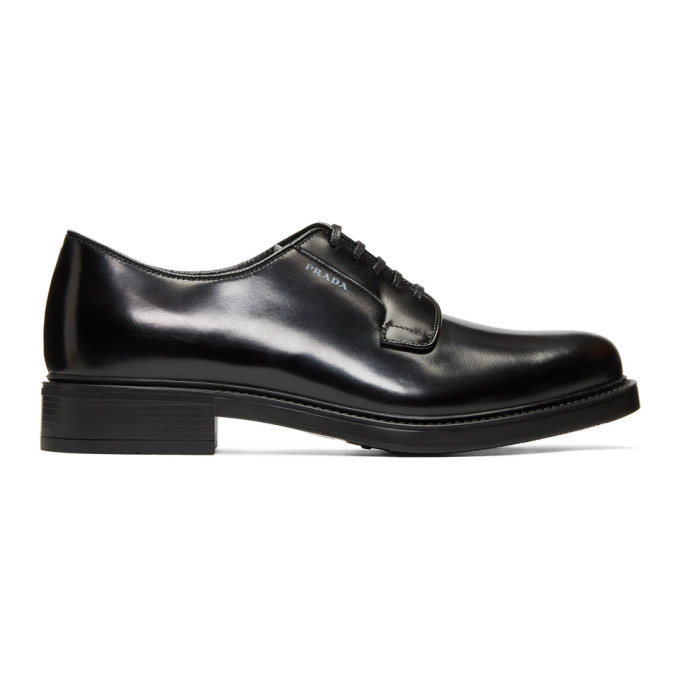 Prada Black Bright Derbys
