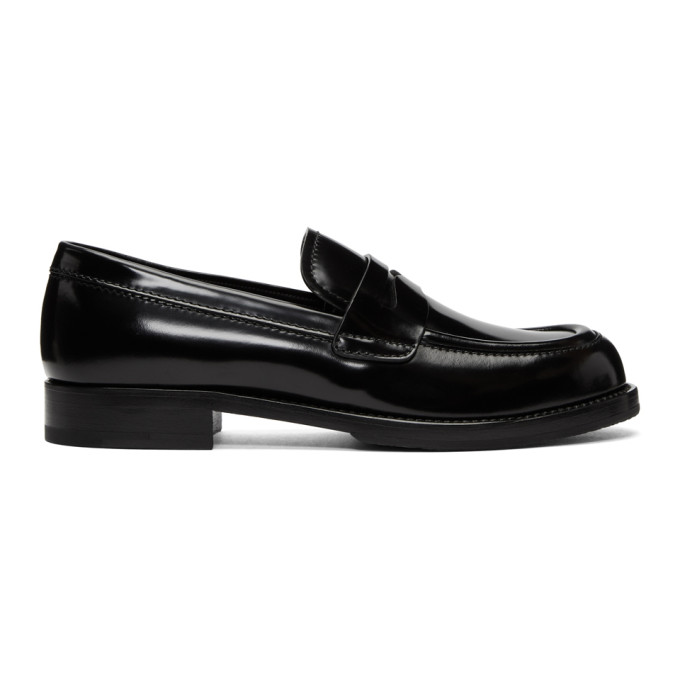 Prada Black Moccasin Loafers