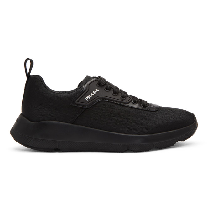 Prada Black Nylon Tech Sneakers