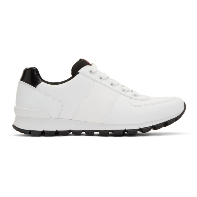 Prada White Match Rays Sneakers