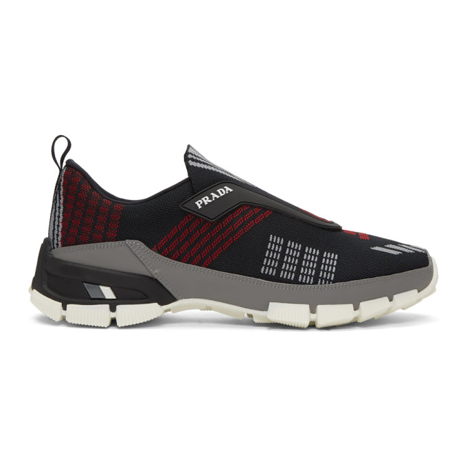 Prada Black Laceless Sneakers