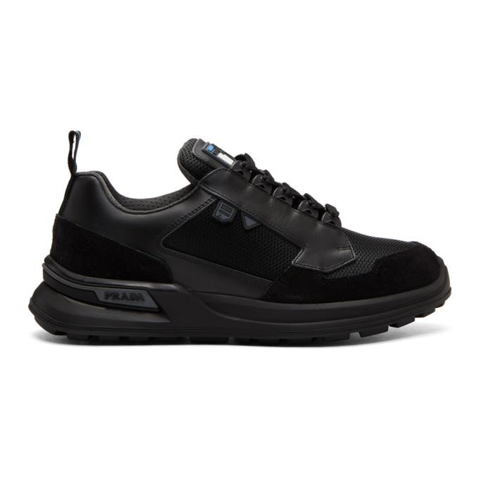 Prada Black Scamosciato Sneakers