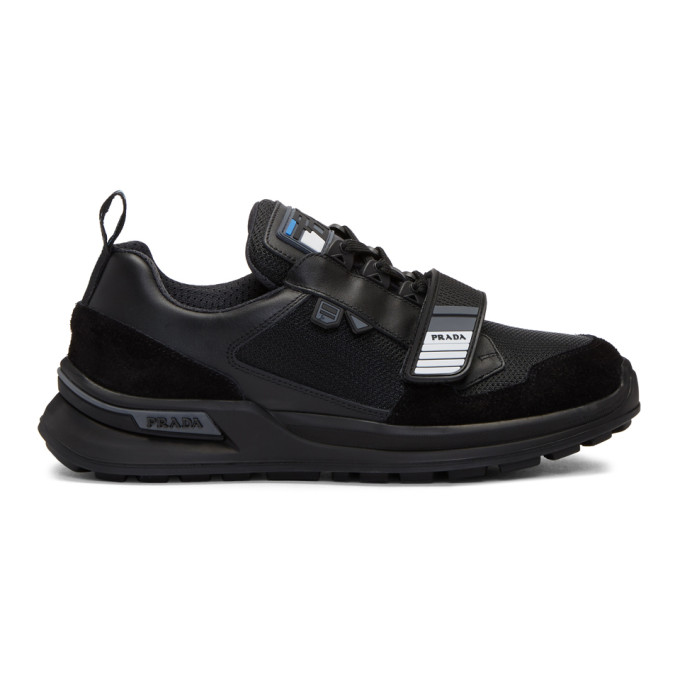 Prada Black Strap Sneakers