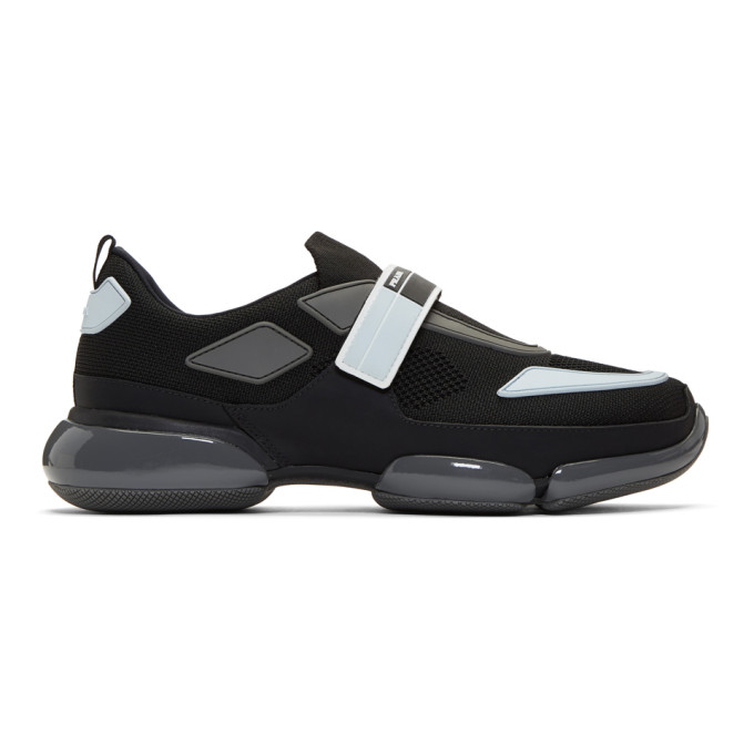 Prada Black & Grey Cloudbust Sneakers